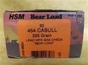 HSM 454 Casull 325gr Bear Load - 50 Rounds
